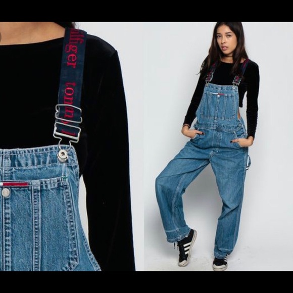 97ebb565 Vintage Tommy Hilfiger Spell Out Overalls Size XS.  M_5c6c0c86035cf195a8e3a67e